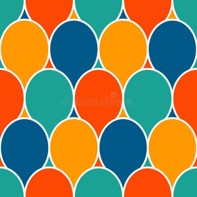 Den sömlösa yttersidamodellen med ljusa färger festar ballonger livlig abstrakt bakgrund Digital papper, textiltryck vektor illustrationer