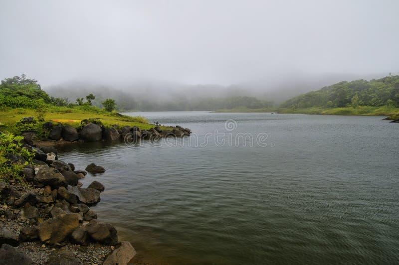 Den sötvattens- sjön, Dominica Lesser Antilles royaltyfria bilder