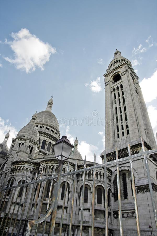 Den sakrala hjärtan, Sacre Cœur av Paris (Frankrike). arkivfoto