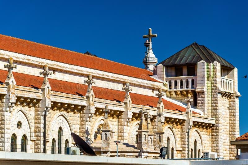 Den Salesian kyrkan av Jesus tonåringen i Nazareth royaltyfri bild