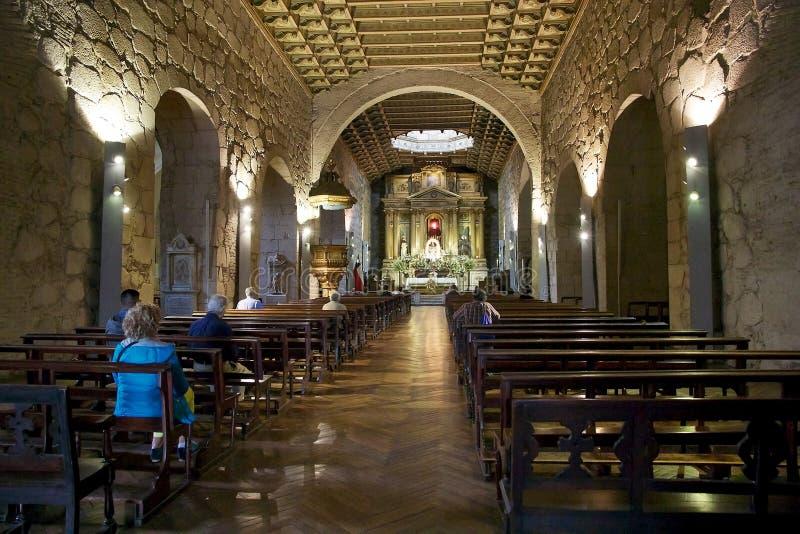 Den San Francisco kyrkan i Santiago, Chile arkivbilder