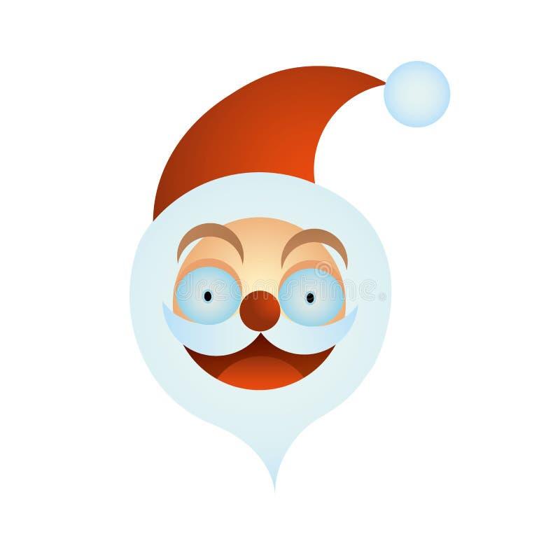 Den Santa Claus symbolen, kan användas i form av en logo, hälsningar och inbjudningar också vektor för coreldrawillustration stock illustrationer