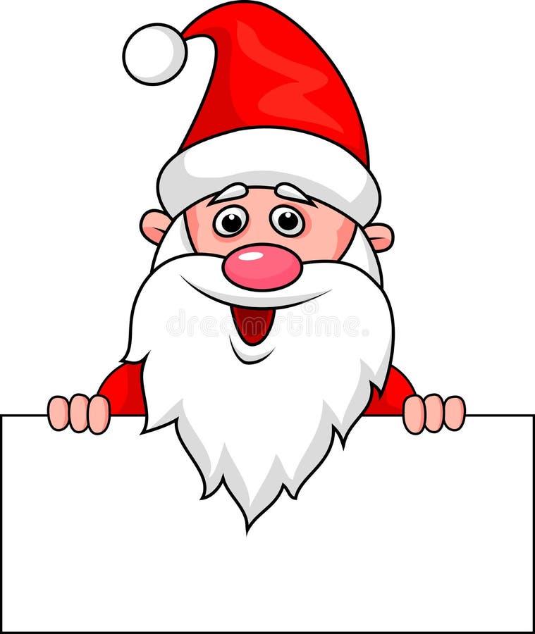 Den Santa Claus tecknad film med tomt undertecknar vektor illustrationer