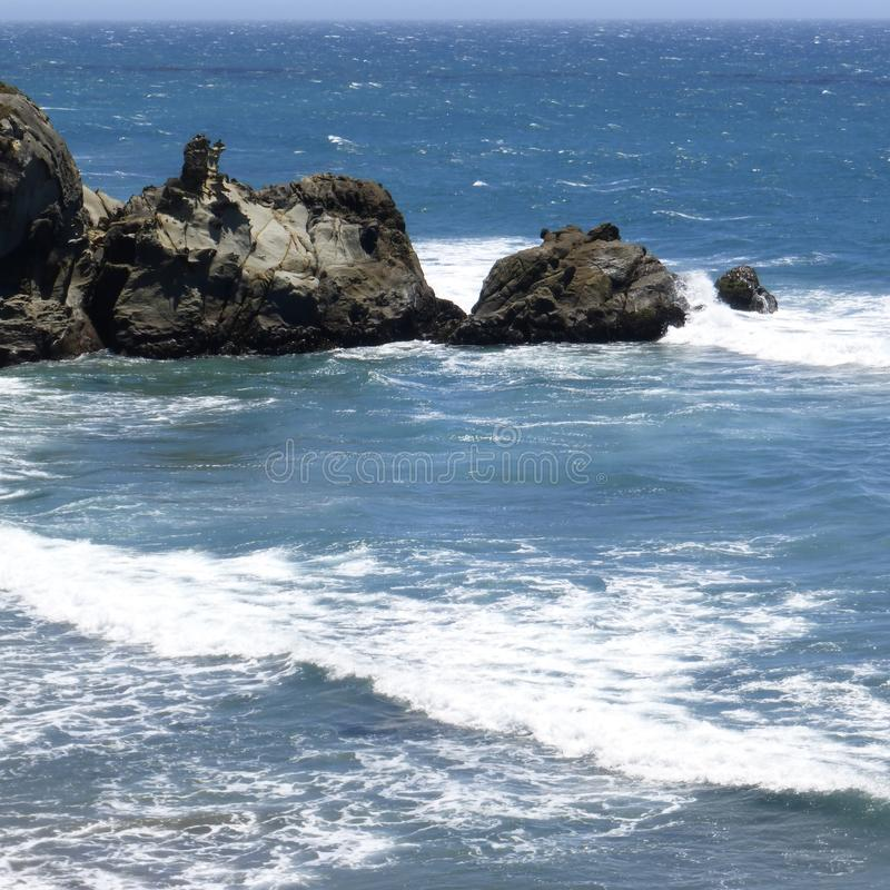 Den Santa Monica pir i Kalifornien arkivfoton