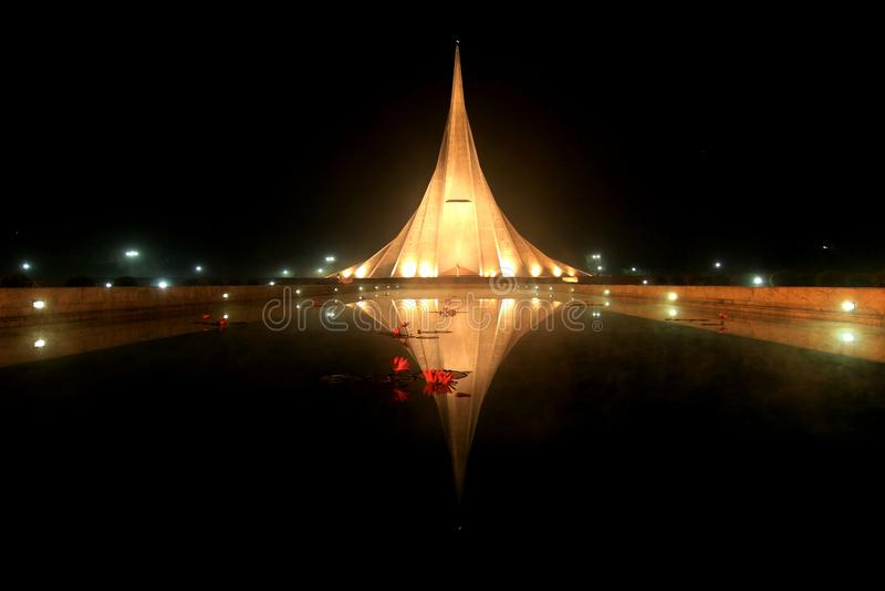 Den Savar medborgaren spelar martyr minnesmärken, Savar arkivfoto