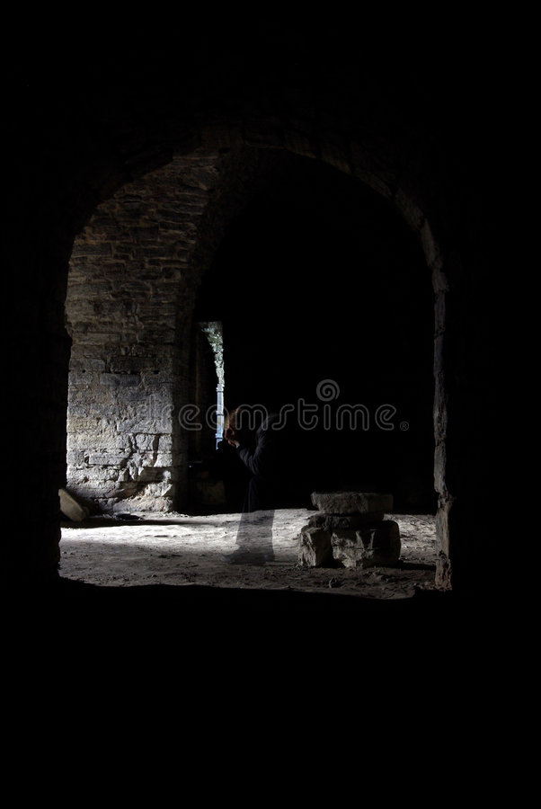 In den Schatten stockfotos