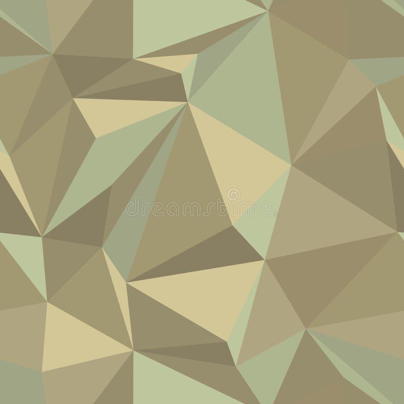 Den Seamless abstrakt vektorn mönstrar i tappning färgar stock illustrationer