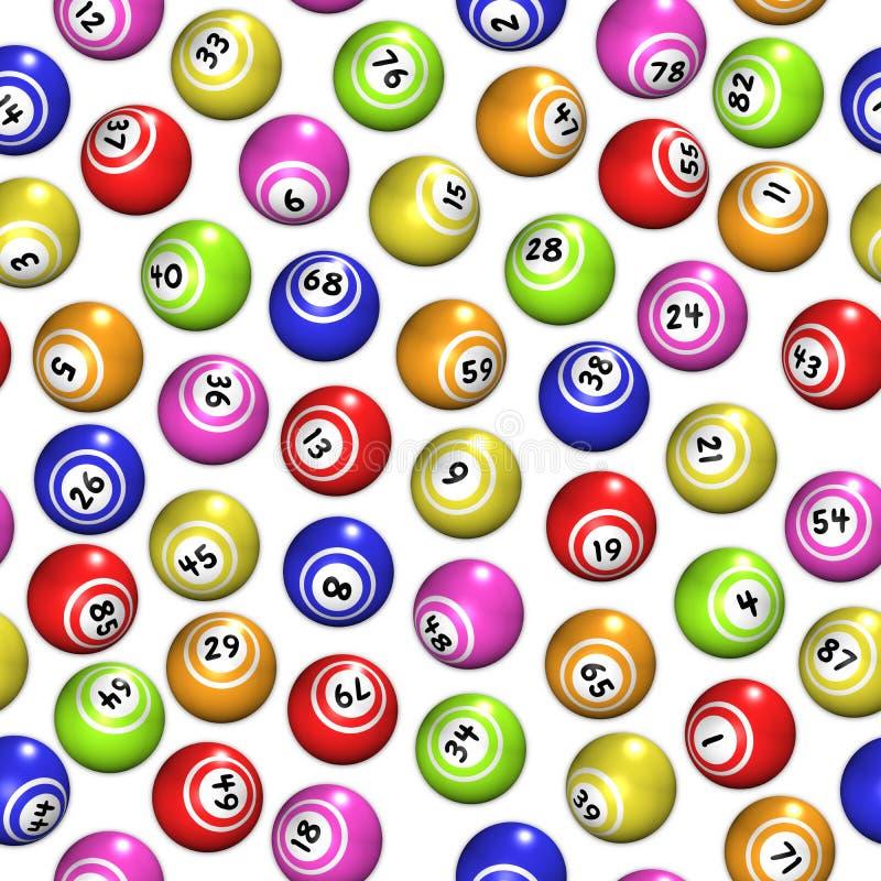 Den Seamless bingoen klumpa ihop sig vektor illustrationer