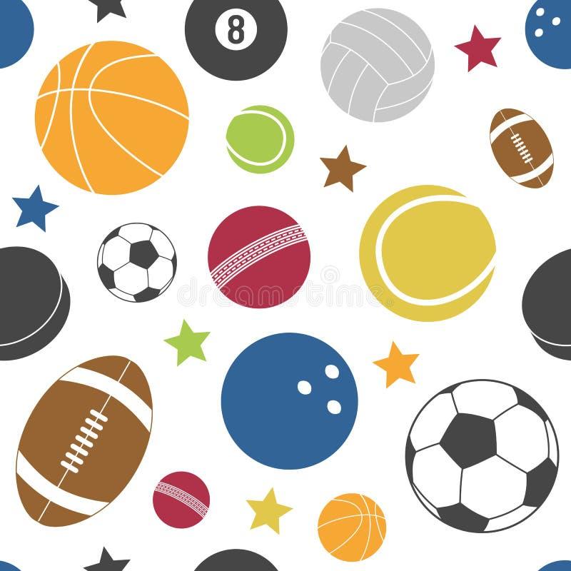 Den Seamless färgrika sporten mönstrar