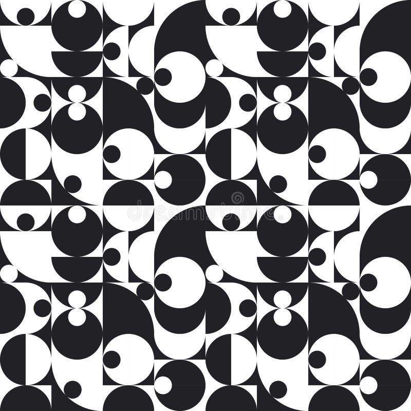 Den seamless geometriska abstrakt vektorn mönstrar royaltyfri illustrationer