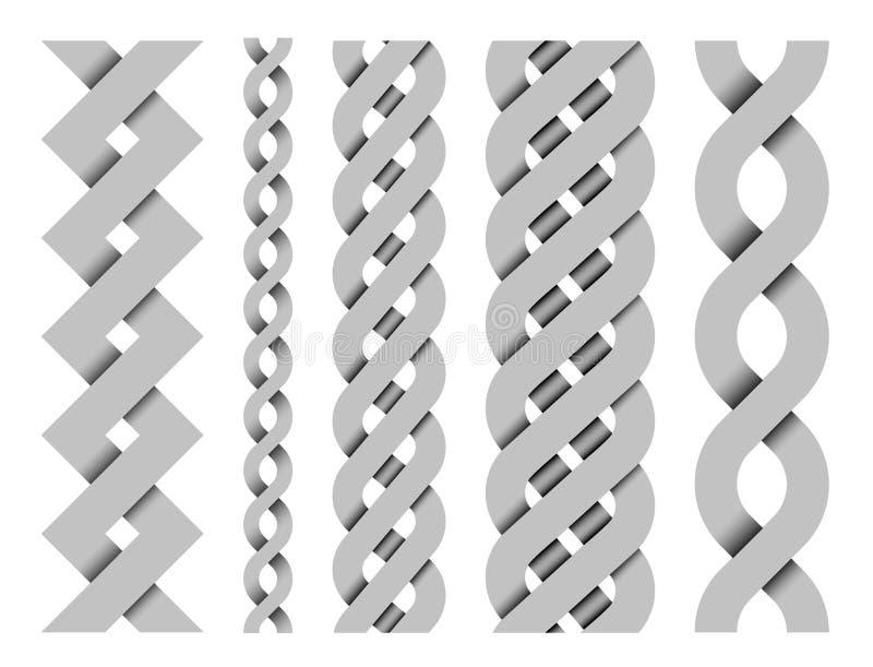Den seamless samlingen av vektorn mönstrar vektor illustrationer