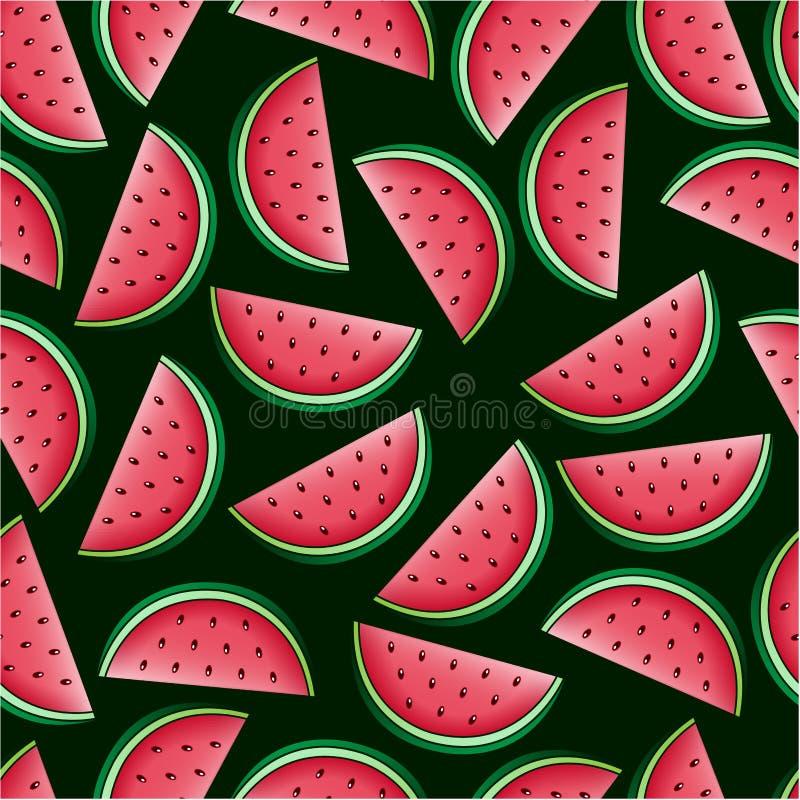 Den Seamless vattenmelonen mönstrar royaltyfri illustrationer