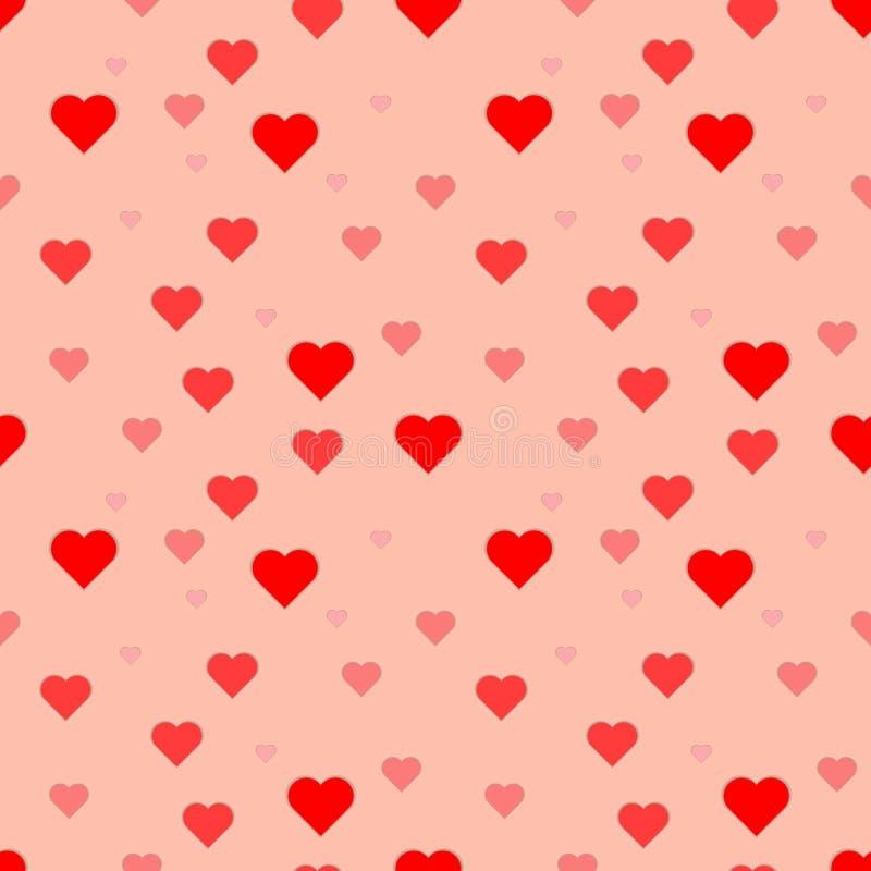 Den seamless vektorn mönstrar med hjärtor Yttersida för inpackningspapper, skjortor, torkdukar, Digital papper stock illustrationer