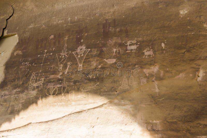 Den Sego kanjonen Fremont vaggar Art Panel arkivbilder