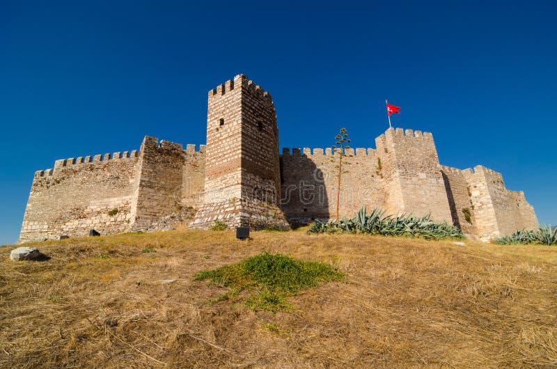 Den Selcuk slotten royaltyfri bild