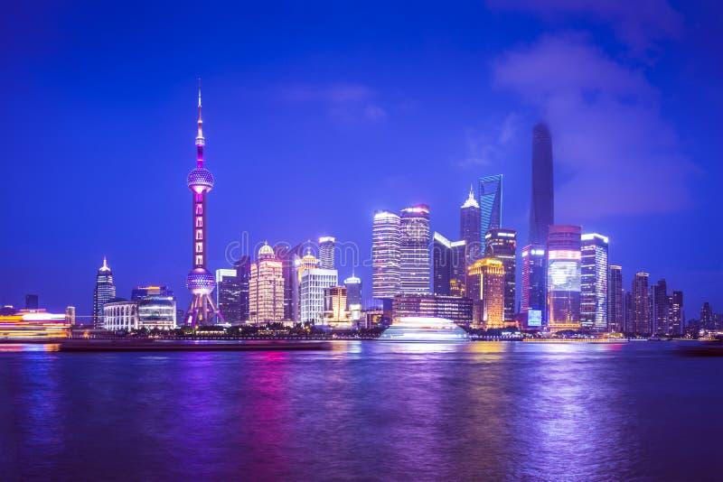 Den Shanghai antennen beskådar royaltyfri bild