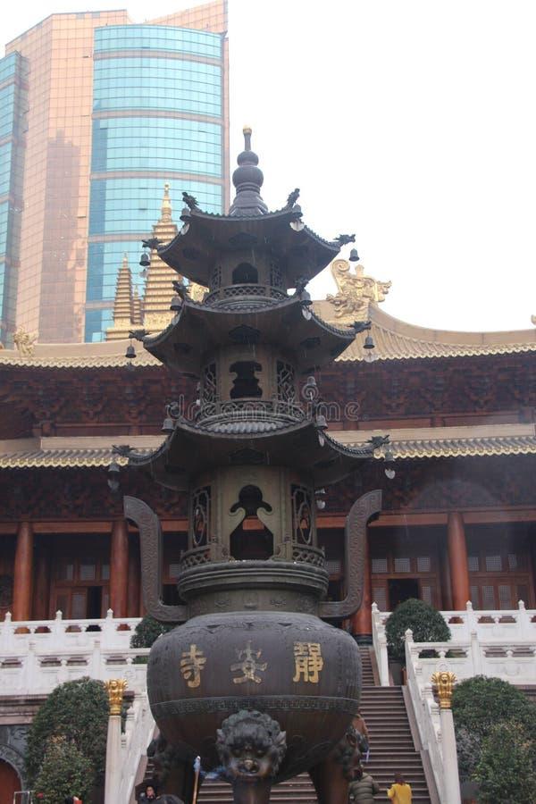 Den Shanghai templet Frikänd ekonomi royaltyfria bilder