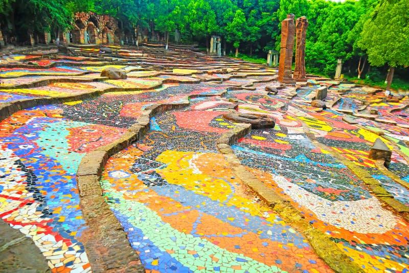 Den Sichuan akademin av konster färgar trappa royaltyfri foto