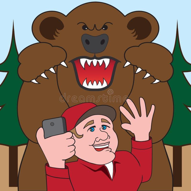 Den sista Selfien stock illustrationer