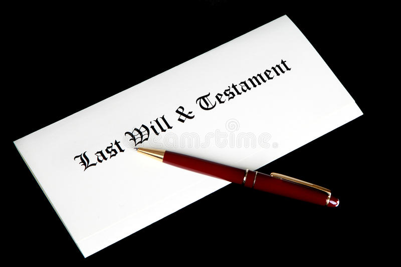 den sista testamentet skallr arkivfoton