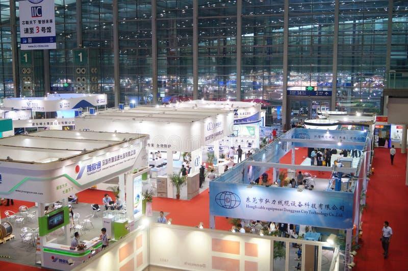 Den sjuttonde Kina internationella Optoelectronic expon som rymms i den Shenzhen regeln och utställningmitt arkivbild