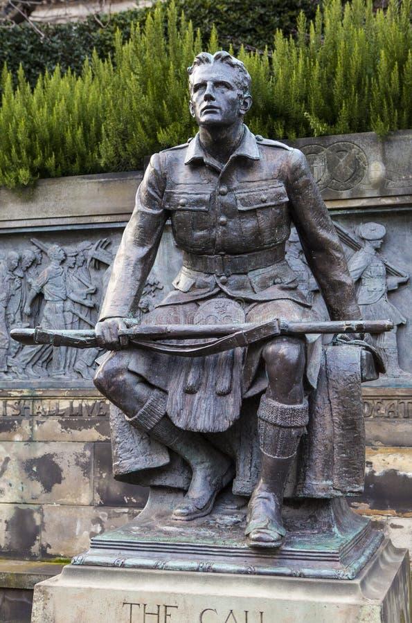 Den skotska amerikanska minnesmärken i Edinburg royaltyfri foto