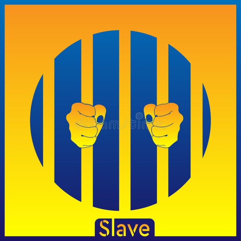 Den slav- blått-guling bakgrunden EPS royaltyfri illustrationer