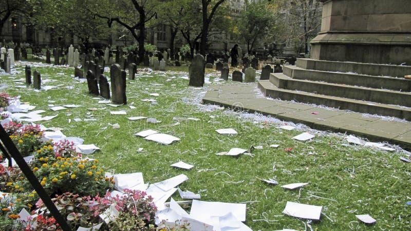 den smutsiga kyrkogården ståtar yankees arkivbilder