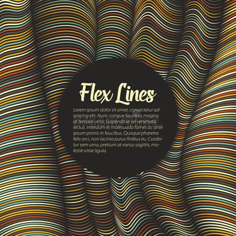Den snedvred vektorn fodrar bakgrund Böjliga band som vrids som silke som bildar volymetriska veck stock illustrationer