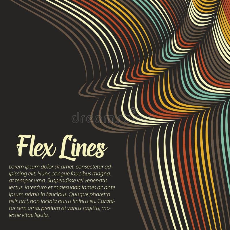 Den snedvred vektorn fodrar bakgrund Böjliga band som vrids som silke som bildar volymetriska veck C vektor illustrationer