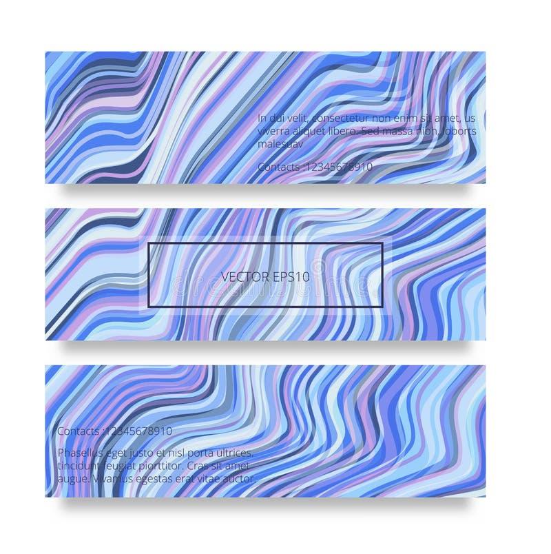 Den snedvred vektorn fodrar bakgrund Böjliga band som vrids som silke som bildar volymetriska veck Färgrik variabel bredd stock illustrationer