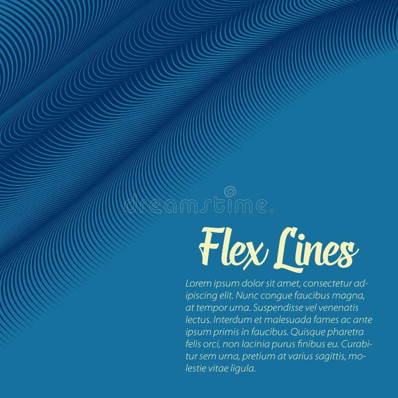Den snedvred vektorn fodrar bakgrund Böjliga band som vrids som silke som bildar volymetriska veck färgrika band royaltyfri illustrationer
