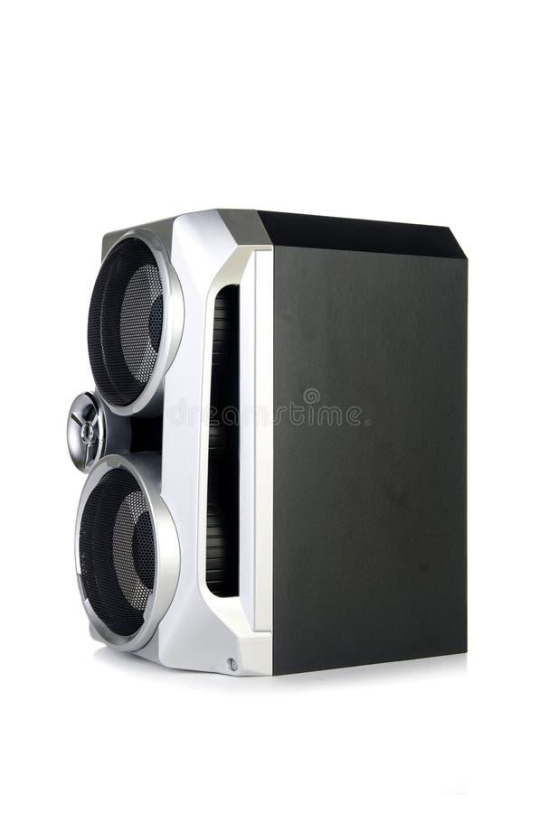 Den solida ljudsignal högtalaren som isoleras på vit bakgrund royaltyfria foton