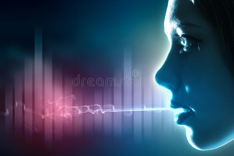 Sound vinkar illustrationen arkivfoto