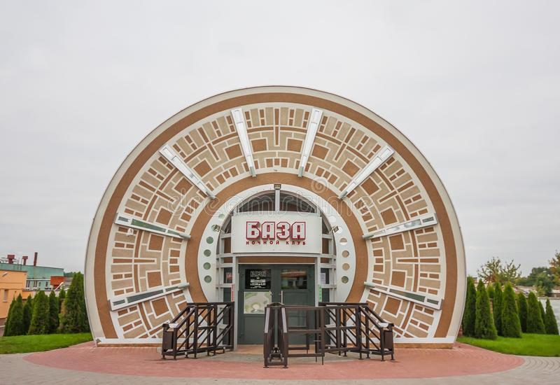 Den sovjetiska stilen Grodno, Vitryssland arkivbild