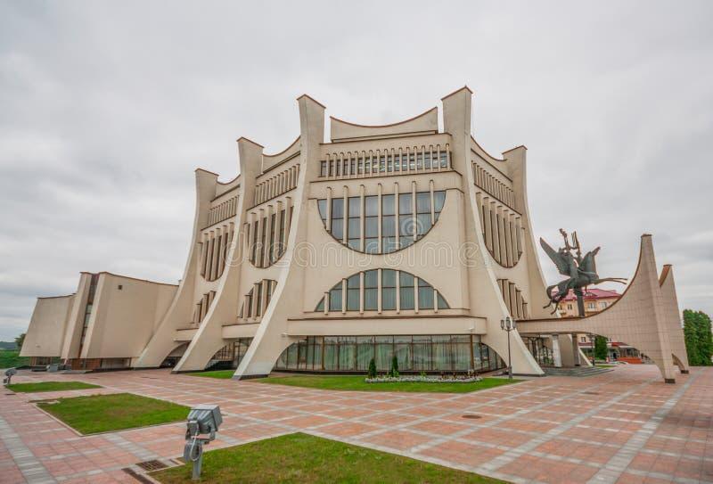 Den sovjetiska stilen Grodno, Vitryssland arkivfoto