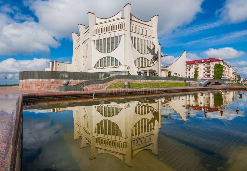Den sovjetiska stilen Grodno, Vitryssland royaltyfria foton