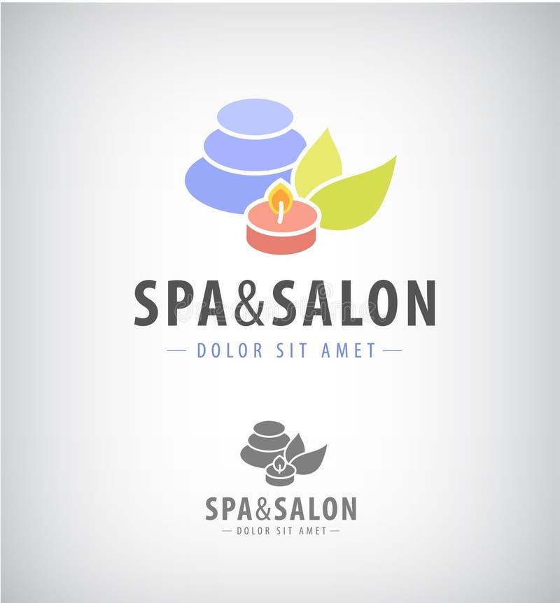 Den Spa salongen kopplar av den isolerade symbolen stock illustrationer