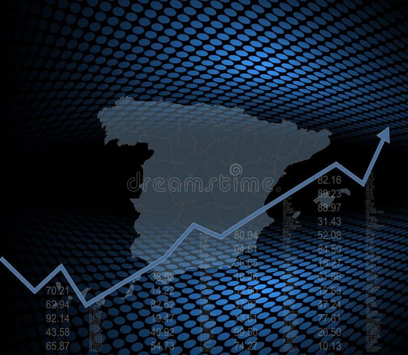 Den spanska finansen och ekonomin stock illustrationer