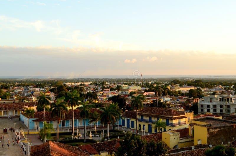 Den spanska koloniala arkitekturen cuba trinidad arkivbilder