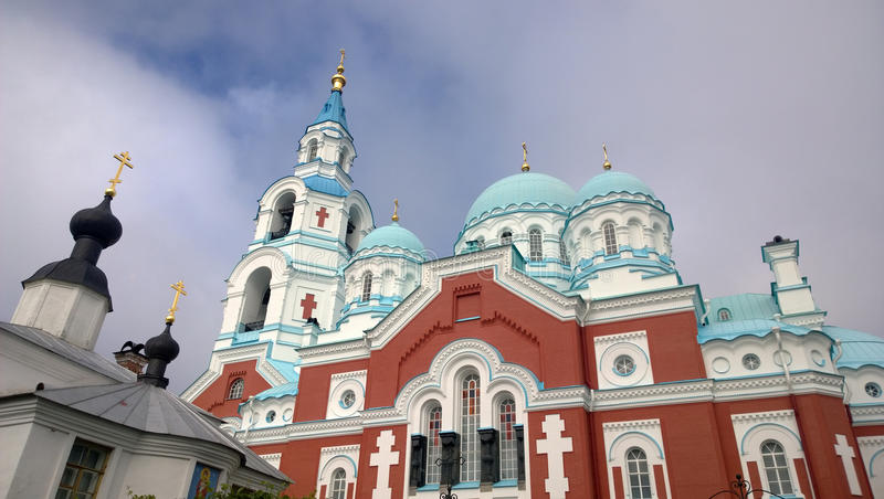 Den Spaso-Preobrazhensky kloster på Valaam royaltyfri foto