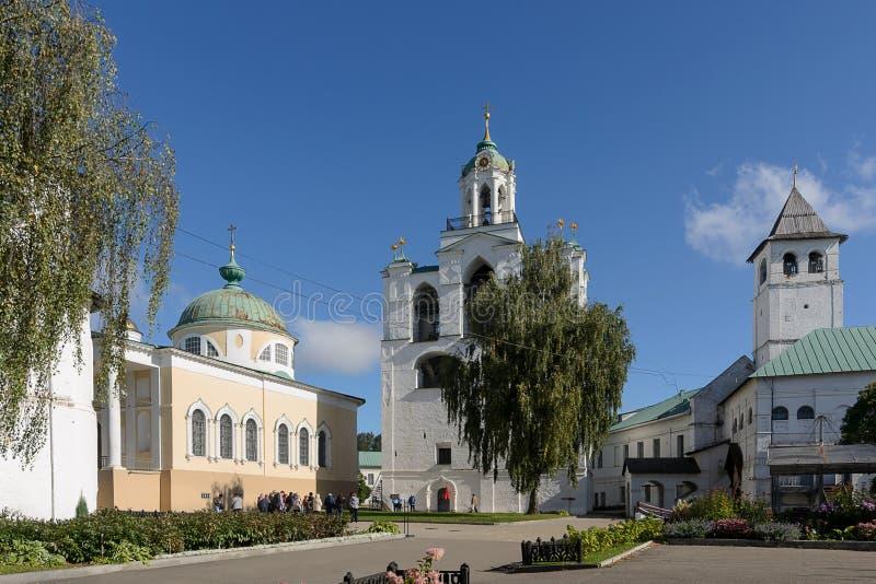 Den Spaso-Preobrazhensky kloster russia yaroslavl arkivbild
