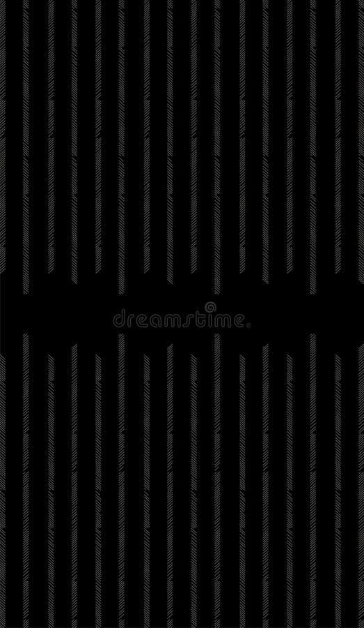 Den splited gråa lodlinjen fodrar i pileffekt på svart fast bakgrund vektor illustrationer