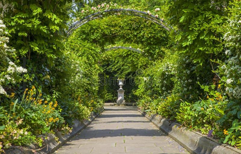 Den St Johns logeträdgården i regenter parkerar royaltyfri bild