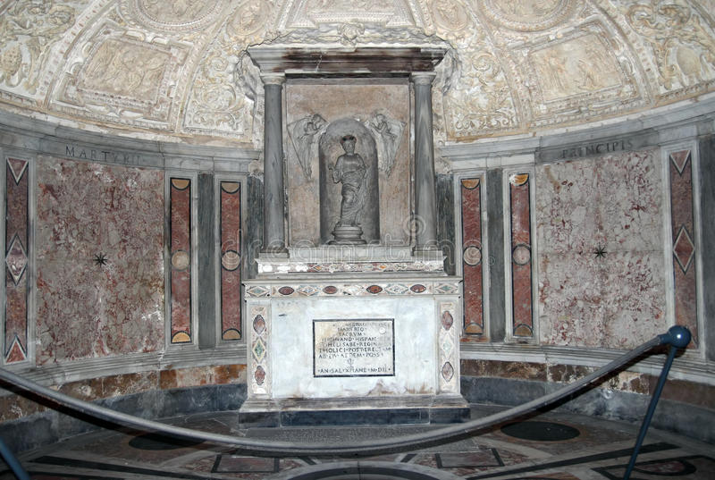 Den St Peter martyriumen förlägger royaltyfria bilder