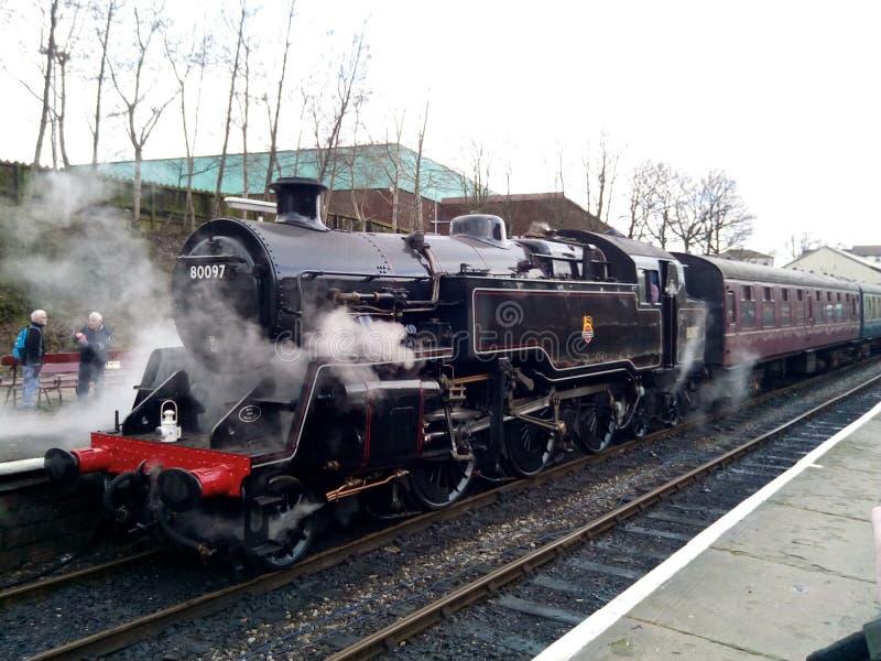 Den standarda ångamotorn för 4 behållare begraver stationen royaltyfri bild