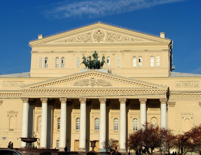 Den statliga akademikerBolshoi teatern av Ryssland i Moskva arkivfoton