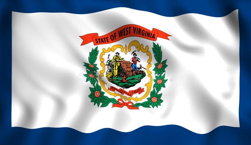 Den statliga flaggan av West Virginia stock illustrationer