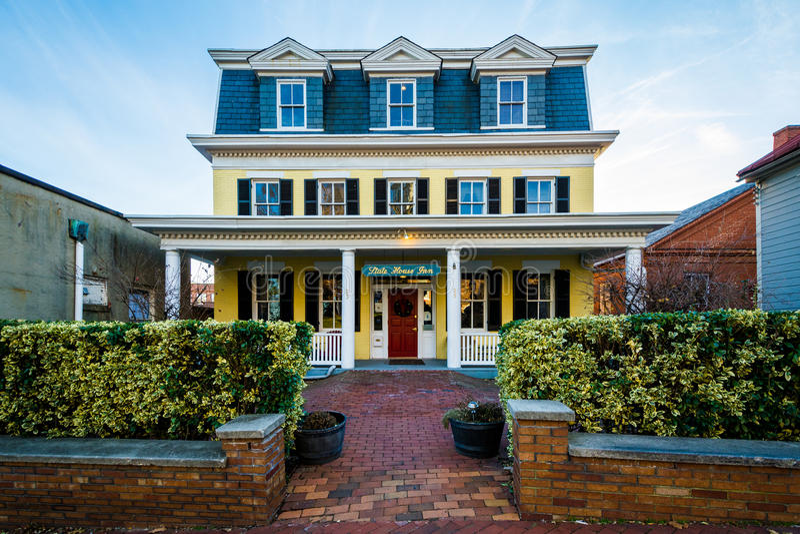 Den statliga husgästgivargården, i Annapolis, Maryland arkivfoton
