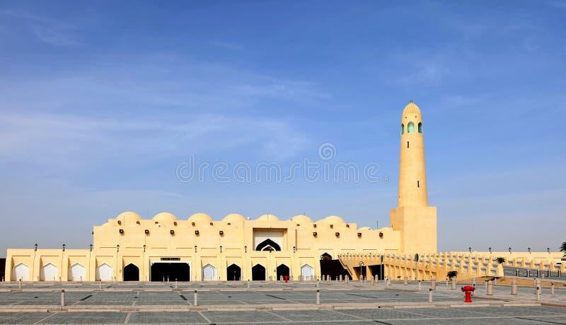 Den statliga moskén i Doha Qatar arkivbild